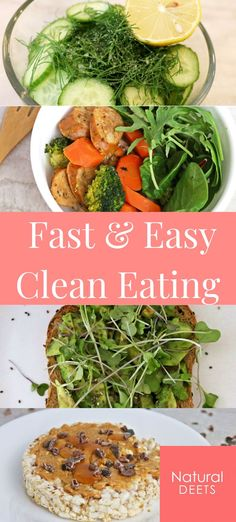 Clean Eating recipes don't have to be difficult and time consuming. The whole point of Clean Eating is to eat as close to nature as possible!  Here are 10 clean eating ideas that are so fast and easy, they don't need recipes. This is how we actually eat healthy on the day to day!  #healthyrecipes #cleaneating #cleaneatingwithkids