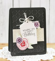 Card by Laurie Schmidlin using Poppy Birthday from Verve.  #vervestamps