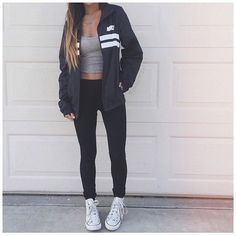 24 Super Cute Outfits for School for Girls to Wear This Fall - Nike - School Outfits Teen Fashion, Fashion Outfits, Womens Fashion, Fashion Black, Fashion Shoes, Fashion Ideas, Fashion Trends, Fall Winter Outfits, Summer Outfits