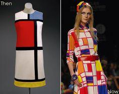 Rug Design: Art to Runway to Rug, Mondrian Inspired