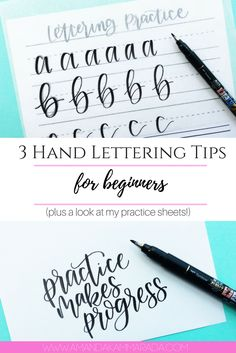 3 Hand Lettering Tips For Beginners (including a look at my practice sheets!)