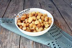 Crutoane aromate din pâine (o rețetă simplă, sănătoasă și ieftină) #retete #reteteculinare #poftacuGinaBradea #recipes #cooking #cook