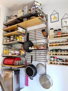 The IKEA Shelves That Made All the Difference in This Empty Room-Turned-Pantry Ikea Shelving Unit, Ikea Shelves, Wood Shelves, Open Shelving, Produce Baskets, Ikea Spice Rack, Pantry Essentials, Steel Racks, Empty Room