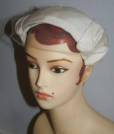 Vintage 1950s wedding hat