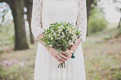 Bouquet de mariée fleur de wax mariage champêtre