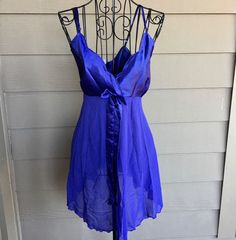 NEW Victorias Secret Purple Satin Chiffon Lingerie Set Size Large #VictoriasSecret #Lingerie