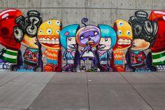 Street art by David Choe in Denver, Colorado USA