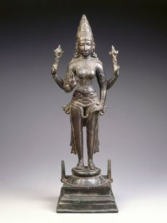Standing Durga, Bronze, ca. 970, Chola Period Brooklyn Museum