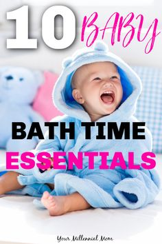BABY BATH TIME ESSENTIALS / baby bath time products you need for your baby to make bath time more fun and less scary for you and your baby! #baby #babybathing #babybath #babybathessentials #babybathproducts #babies Best Baby Bath Products, Baby Tub, Baby Bath Time, Baby Must Haves, Kids Bath, Mom Hacks, Everything Baby, Baby Needs, Baby Grows