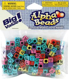 Alpha letter beads