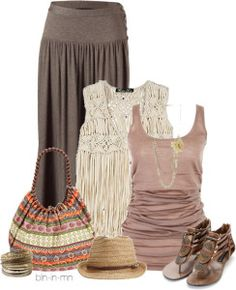 35 Pretty Maxi Skirt Outfits Polyvore Combinations This Summer