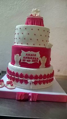 NADINA CAKES: TORT BOTEZ ROZ-  ANAIS ANDREEA