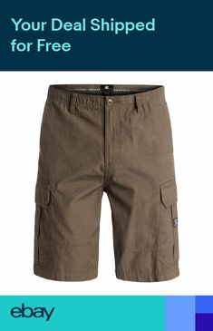 5c0283dd28 DC SHOES RIPSTOP MENS CARGO SHORTS TAUPE SIZE 30 RRP £50 EDYWS03054 TMS0