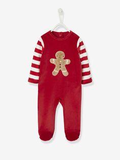 92ce666090a3 Coffret cadeau bébé garçon pyjama et jouet bois Gingerbread rouge brique -  Vertbaudet