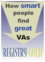 Registry Gold:  How smart people find great VAs!  #virtualassistance #vatip www.assistu.com #virtualassistant