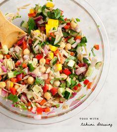 mango & red pepper orzo salad / @loveandlemons