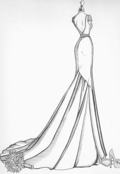 Fashion Sketchbook Videos A Level Beautiful Dress Designs, Most Beautiful Dresses, Fashion Sketchbook, Fashion Sketches, Side View Drawing, Wedding Dress Drawings, Fashion Model Drawing, Dress Design Sketches, Body Drawing