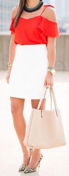 A Southern Drawl How To Rock A White Mini Skirt #Fashionistas