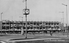 Zuidwijk de Asterlo Met Klok 11.10 1963 Rotterdam, Photo Wall, History, City, Memories, Past, Nostalgia, Memoirs, Photograph