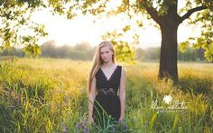 Senior Photo with beautiful lighting