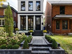 Check out the virtual tour of this amazing property at 111 Givins Street. Contact Ashley Bardi to schedule a viewing or for any questions you may have! Townhouse Exterior, Modern Townhouse, Toronto Houses, House Outside Design, Modern Villa Design, Small Modern Home, House Landscape, Facade House, Virtual Tour