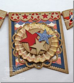 It's almost Independence Day in the US and I really needed a new patriotic banner. My old one was looking a little worse f. Americana Crafts, Patriotic Crafts, July Crafts, Summer Crafts, Patriotic Wreath, Fourth Of July Decor, 4th Of July Decorations, 4th Of July Party, July 4th