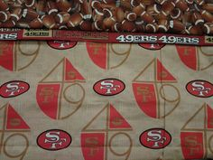 Custom Handmade NFL San Francisco 49ers Washable Pillowcase. Fits Standard Size Pillow. by MissAmandaMadeIt4Me on Etsy