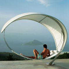 The Petiole Hammock - Hammacher Schlemmer. Filed under pretty, shiny objects I want even though they cost more than any sane person would pay for them.