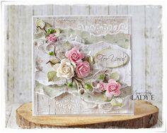 Scrap Art by Lady E, Flower greeting card