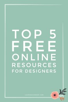 The internet can really help or hinder productivity when working on design  projects, so today I'm going to share with you some of my favourite free  online resources for designers that help make my time online more  productive. I use these websites and tools quite often throughout my design  pr