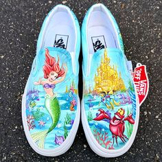 Products Behind The Scenes By shopgigicustoms Wonderful Wedding Favors and Gifts Receives Highest Ra Disney Painted Shoes, Painted Canvas Shoes, Custom Painted Shoes, Painted Vans, Hand Painted Shoes, Custom Vans Shoes, Mens Vans Shoes, On Shoes, Vans Men
