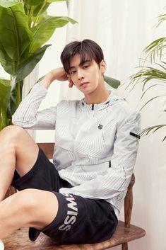 for KSwiss ~ Cha Eun Woo, Park Jin Woo, Cha Eunwoo Astro, Lee Dong Min, Best Photo Poses, Sanha, Kpop, Divas, Saranghae