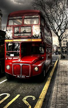 15 bus, London. I've ALWAYS loved the British double decker buses.