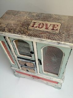 LOVE Shabby Chic Jewelry Box by PlainFancyEmporium on Etsy