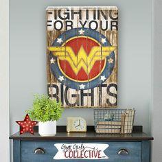 Wonder Woman Art Print Comic Art Vintage by GeekGirlsCollective