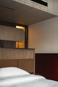 Buda Hotel Chengdu by Archetype Design Organization | Yellowtrace Yellow Tile, Pink Tiles, Wooden Facade, Chinese Interior, Leather Headboard, Bauhaus Style, Earthy Color Palette, Space Photography, Modern Traditional