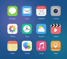 12 iOS7 Icon Concepts Vol.1 (PSD & PNG) 아이폰 IOS 7 콘셉 아이콘