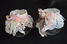 Shabby chic jars perfect as home décor & weddings