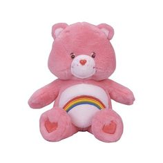 Stuffed Animal Reviews ❤ liked on Polyvore featuring fillers, toys, stuffed animals, pink and plushies