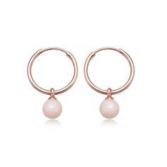 Pink Opal Vera Hoop Earrings #pinkopal #rosegold #hoop #earrings