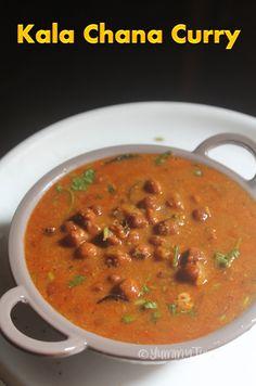 Karuppu Kondakadalai Kuzhambu Recipe - Kala Chana Curry