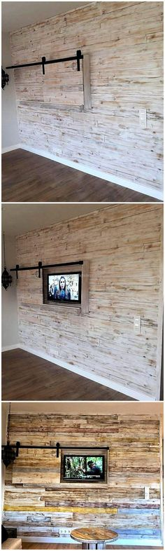 In this image, we would be sharing a thought-provoking use of reused wood pallet in the custom designing of wall art. You will definitely find this plan much different and unique for your home's decoration as it is inexpensive in cost and it's durable and sturdy structure will ensure you that it is best to serve your home for many years to come. #pallets #woodpallet #palletfurniture #palletproject #palletideas #recycle #recycledpallet #reclaimed #repurposed #reused #restore #upcycle #diy