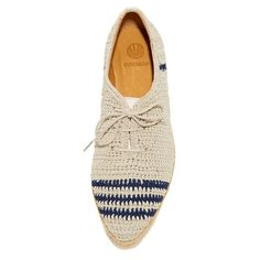 Coclico Shoes Paddle Crochet Oxfords (1 575 PLN) ❤ liked on Polyvore featuring shoes, oxfords, crochet shoes, rubber sole shoes, coclico, woven shoes and coclico shoes