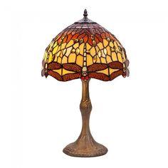 Lámpara de mesa Belle Amber Tiffany II