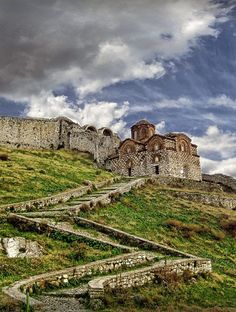 The citadel of Berat, Albania with the 13th-century Byzantine Church of the Holy Trinity by Vindenis