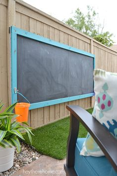 How Is Our DIY Outdoor Chalkboard Holding Up After 3 Years? outdoor toys How Is Our DIY Outdoor Chalkboard Holding Up After 3 Years? Diy Outdoor Toys, Outdoor Toys For Kids, Outdoor Play Areas, Outdoor Activities For Kids, Outdoor Projects, Outdoor Fun, Outdoor Decor, Outdoor Living, Backyard Play