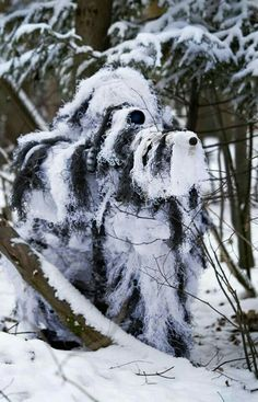 Winter Ghillie suit for sniper. Sniper Gear, Tactical Gear, Sniper Rifles, Military Guns, Military Life, Ps Wallpaper, Ghillie Suit, Military Special Forces, Special Ops