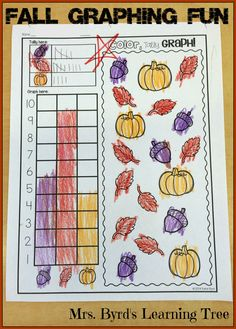 Fall Math and Literacy practice pages for Kindergarten to save your ink and time! Great for morning work, homework, or centers. Use these all season long from September through November! Happy Teaching! $