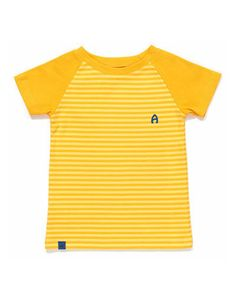 Albababy - Geel gestreept Elas T-shirt - Pepatino.be