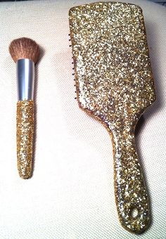 How to add glitter to anything without it falling off by using Modge Podge